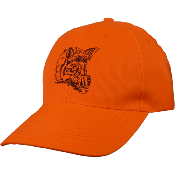 Casquette orange brodé sanglier